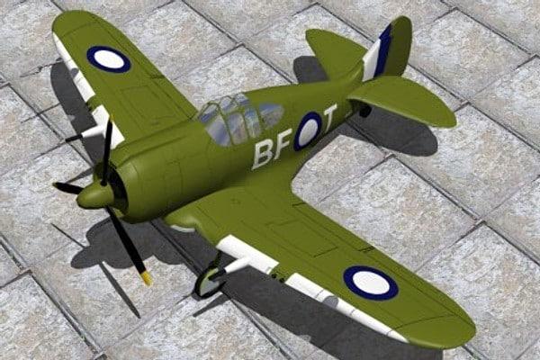australia fighters boomerang 3d model