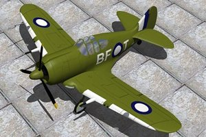 australia fighters boomerang 3d model