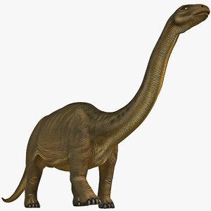 brontosaurus pose 1 3d 3ds