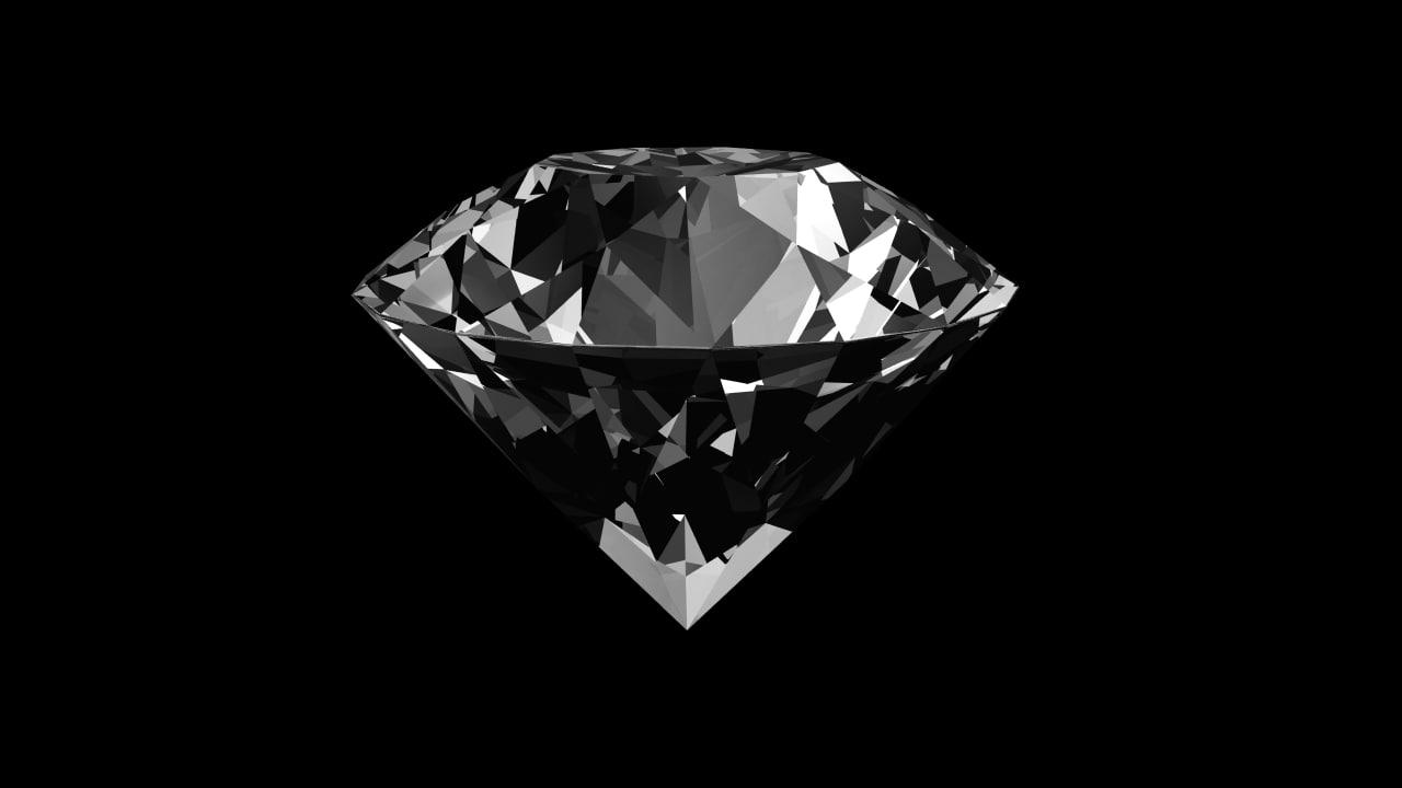 3d diamond quartz ruby model