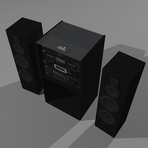 stereo cd tape recorder 3d model