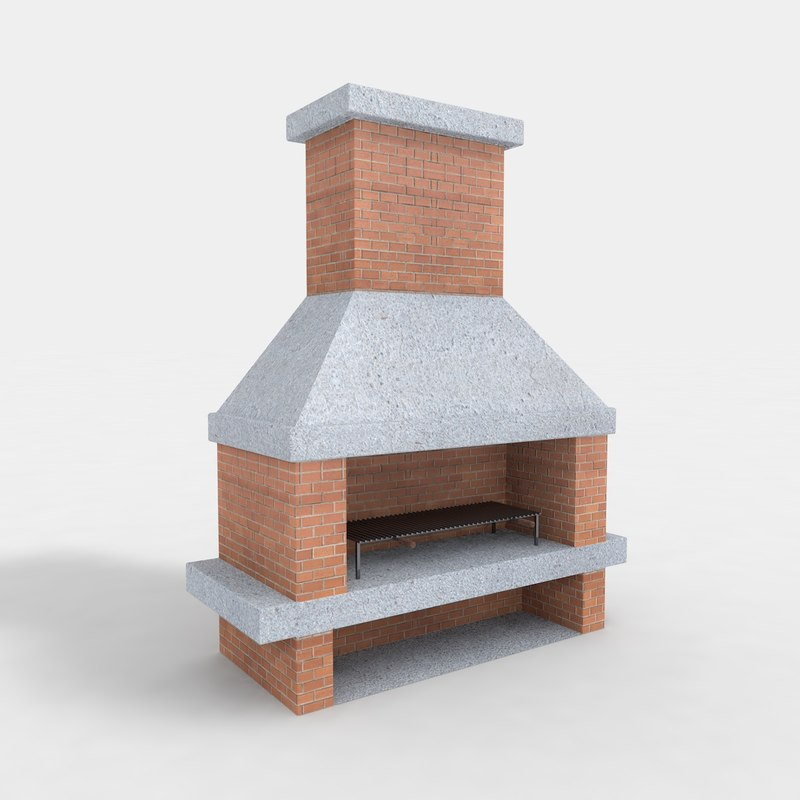 3dsmax barbecue fireplace