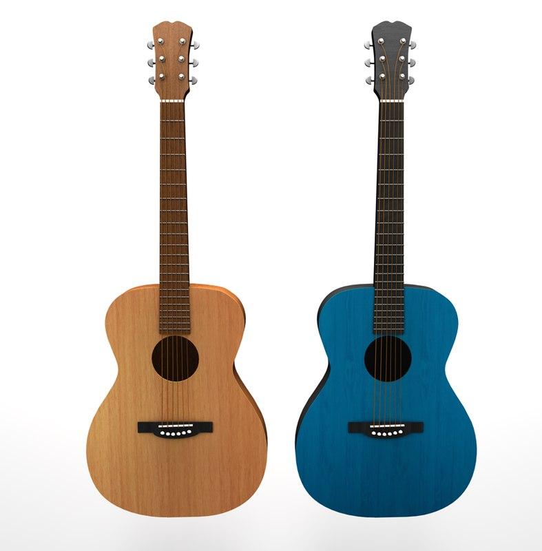 3d model acoustic guitars