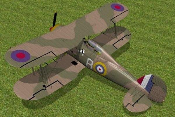 3d model of gloster gladiator fighter