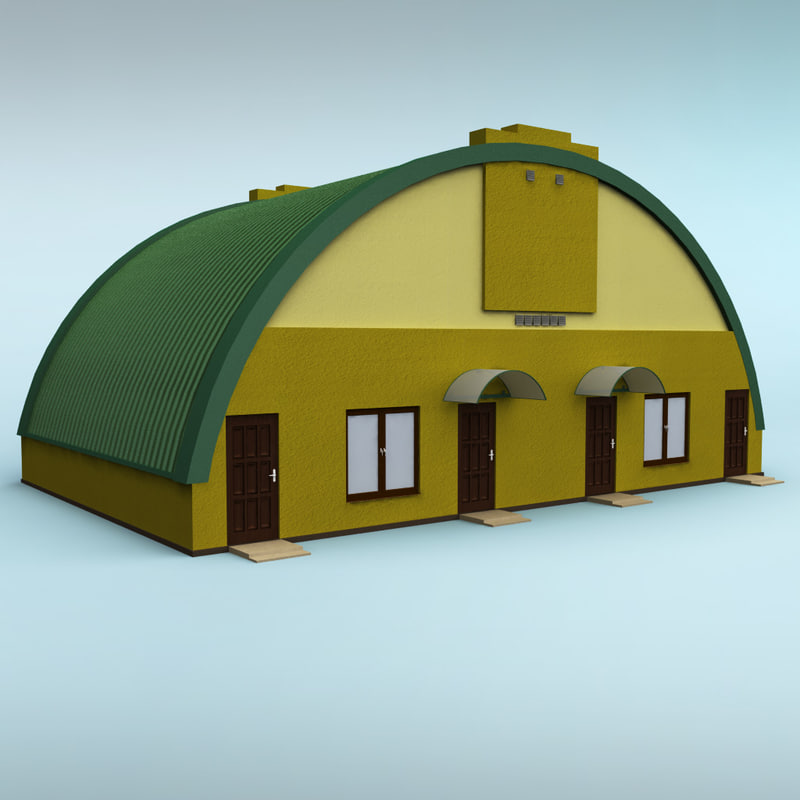 3d rounded building model