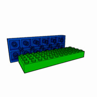 3dsmax piece lego brick 4x12
