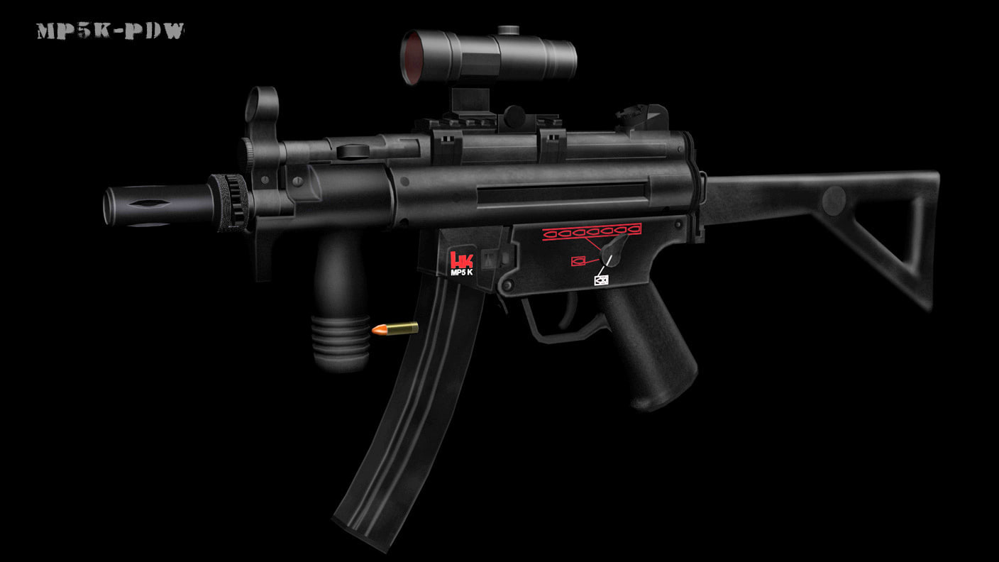3ds max mp5k pdw