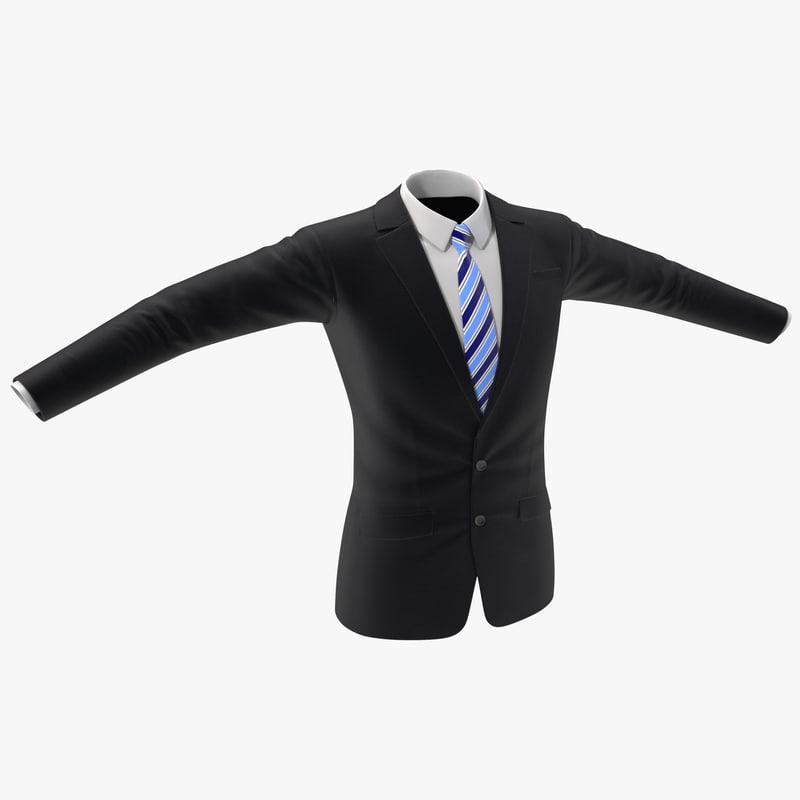 men jacket 4 3d model