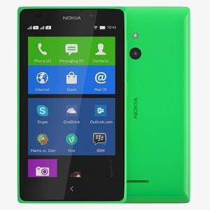 nokia xl bright green 3d dwg