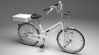 3ds max officer bicycle