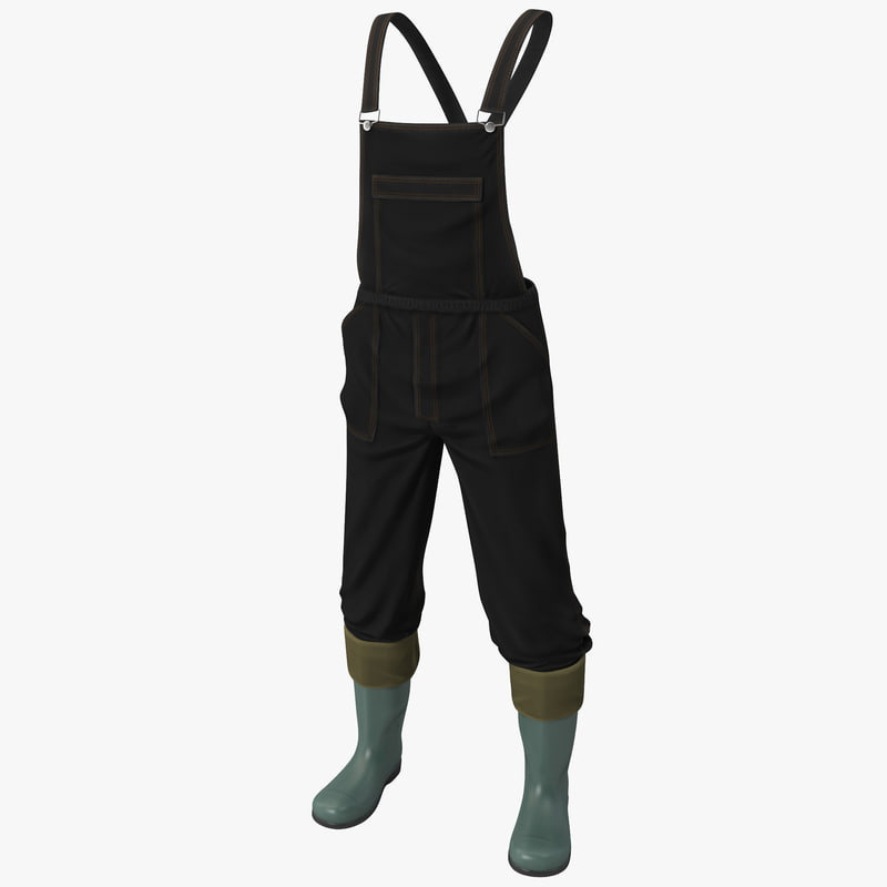 3ds max overalls jeans boots