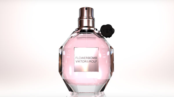 perfume bottle 3d obj