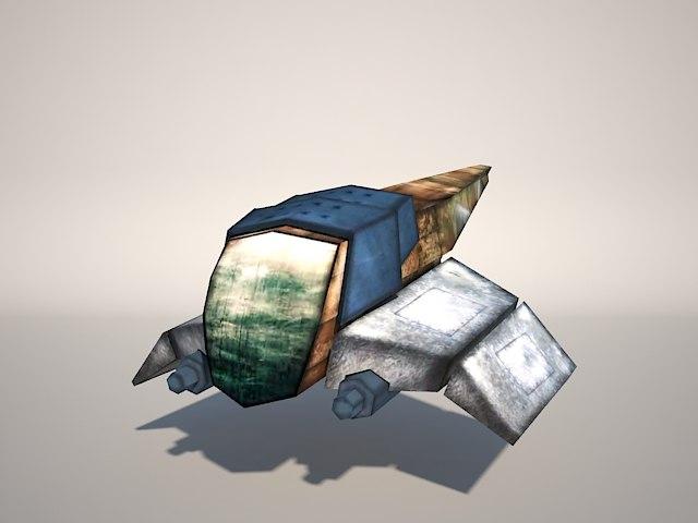 3ds max ship gun