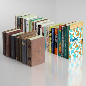 3d model blender 7 old books