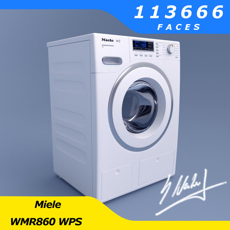 3d model washing machine miele wmr860