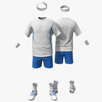 3d tennis clothes