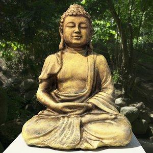 3d model statue buddha