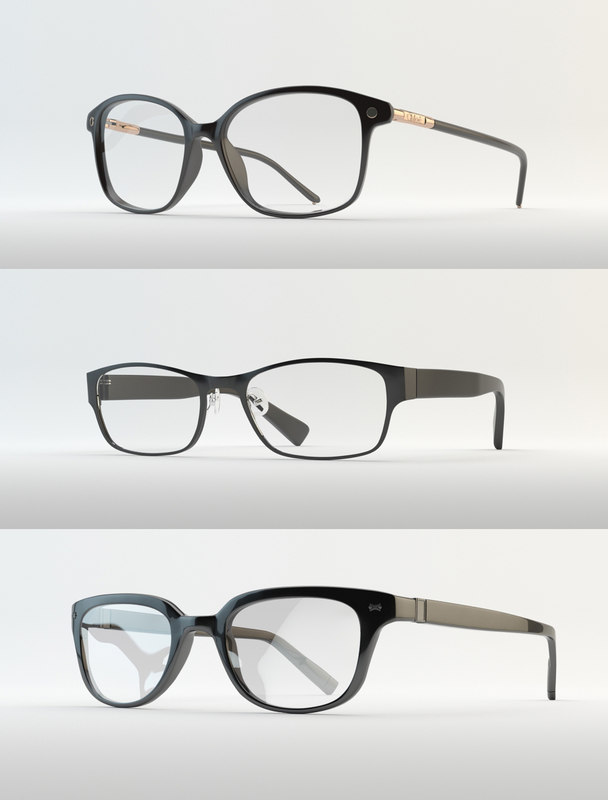 3d model eyewear eyeglasses glass