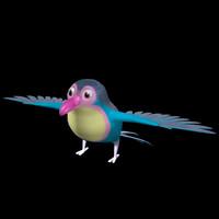 3d nice bird model