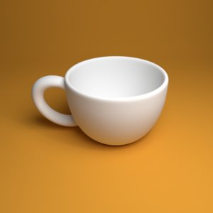 coffee cup 3d 3ds