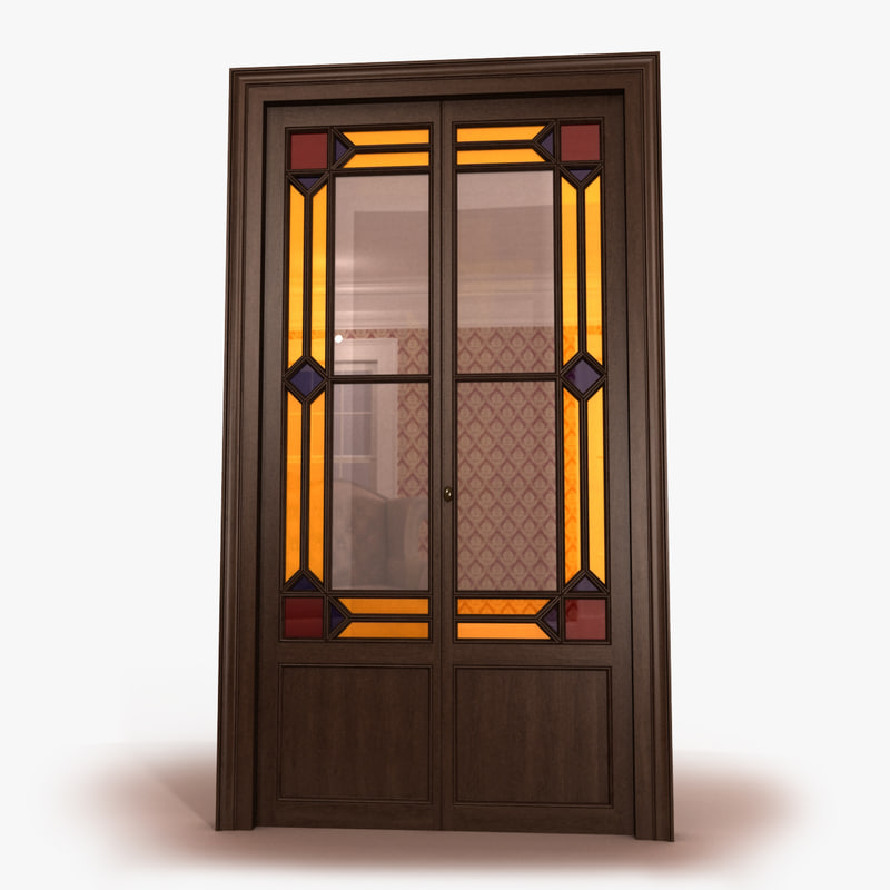 french door 3d 3ds