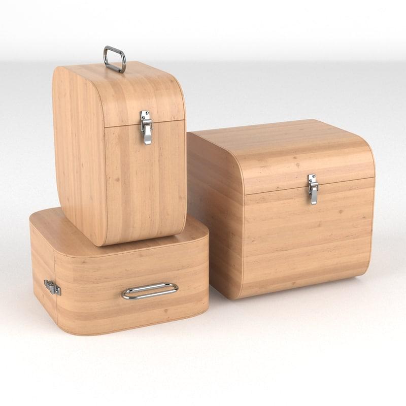 suitcase set obj