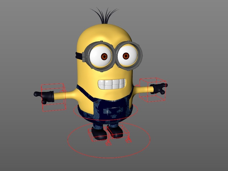 3d rigged minion