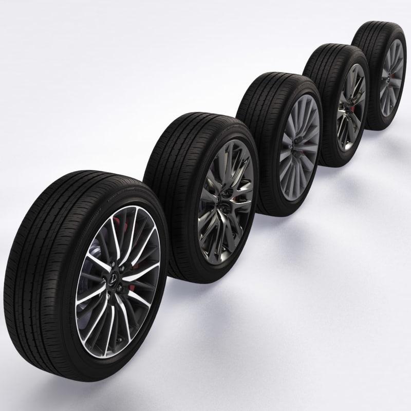 3d max lexus wheels