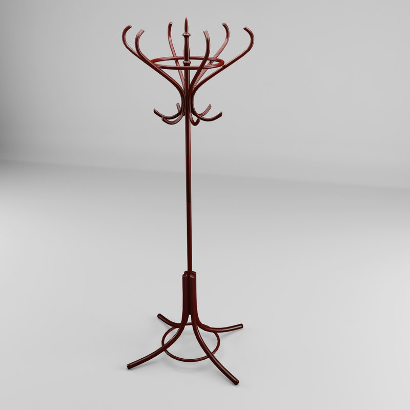 3d old coat rack