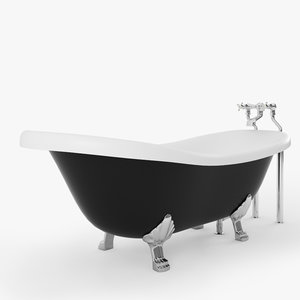 3d glamour bathtub model