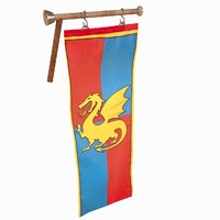 Hanging Medieval Flag Sign