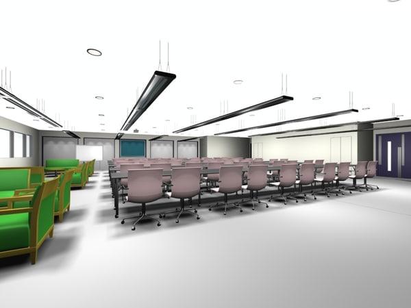 3d model salle dining room