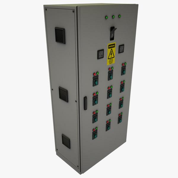 3d electric control cabinet model