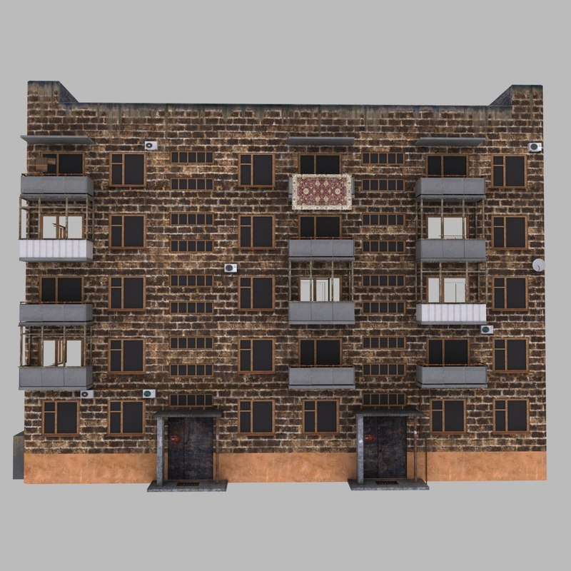 3d model multi-storey building