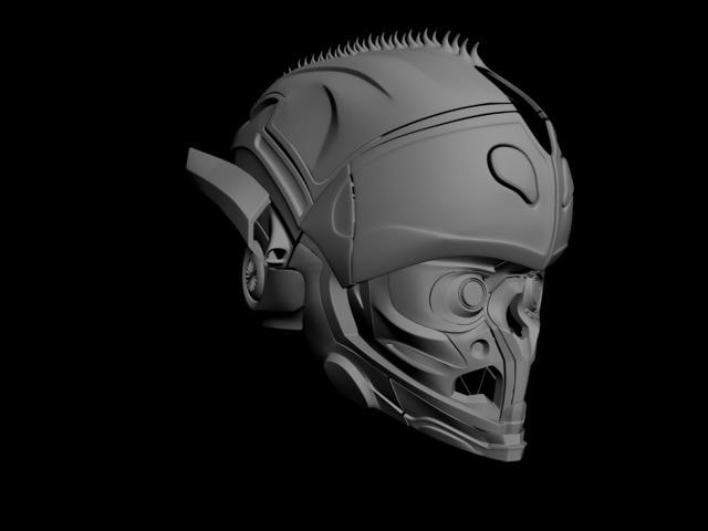 3d alien helmet model