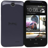 htc desire 310 purple 3d model