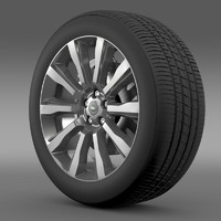 rangerover supercharged wheel 3d c4d