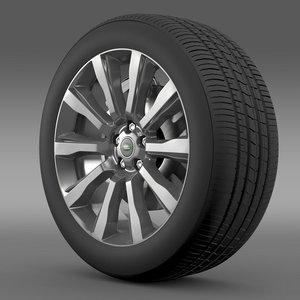 rangerover supercharged wheel 3d c4d