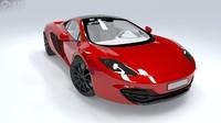 3d mclaren mp4 sports car model