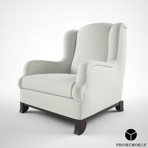 promemoria madame armchair 3d model