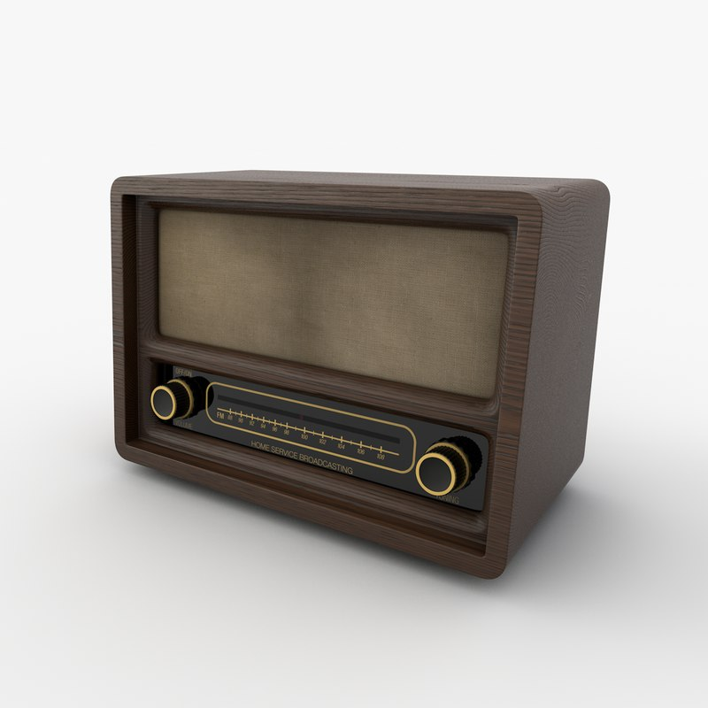 3d model of radio wood