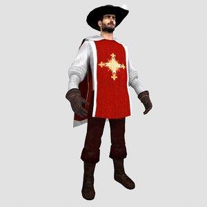 max musketeer man hat