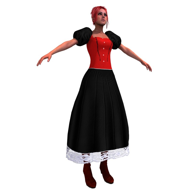 wild west saloon dancer 3d max