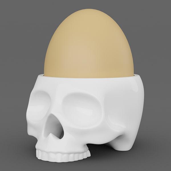 human skull egg cup max