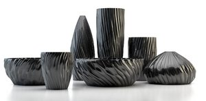 decorating black pots bowls 3d max