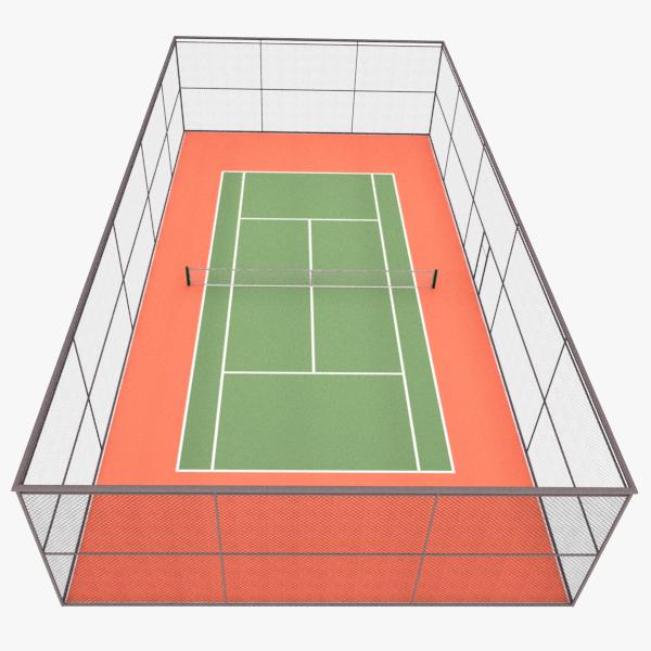 tennis court 3d 3ds
