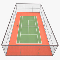 tennis court 3d 3ds