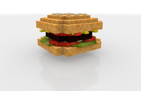 cinema4d minecraft burger