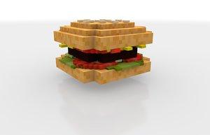 minecraft burger c4d free