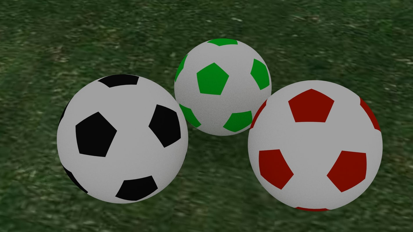 free foot ball 3d model